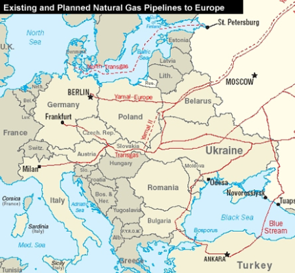Gad Pipelines to Europe